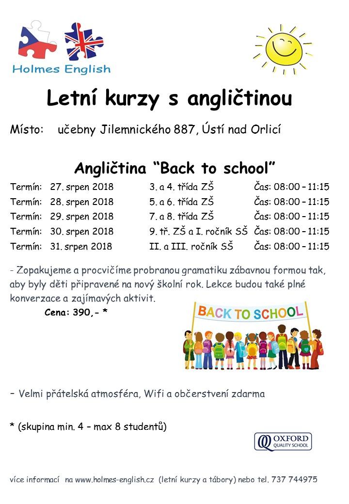 Intenzivni kurzy back to school 2018 UO