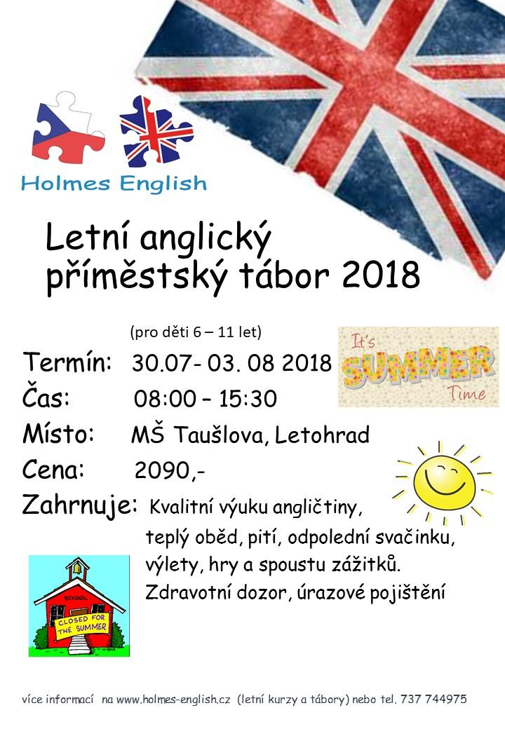 Letni Anglicka Druzina Letohrad 2018