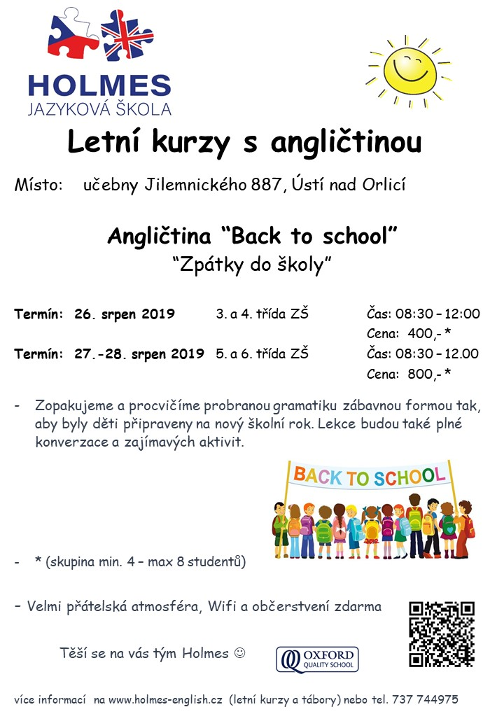 Intenzivni kurzy back to school 2019 UO